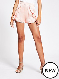 river-island-frill-short-coral
