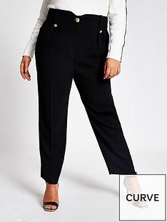 ri-plus-peg-trousers-black
