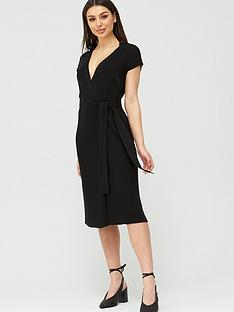 v-by-very-wrap-belted-knitted-dress-black