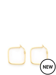 love-gold-9ct-gold-square-hoop-earrings