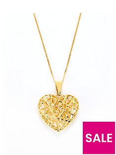 love-gold-9ct-gold-figaro-heart-penedant-necklace
