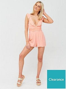 river-island-plunge-lace-insert-beach-playsuit-pink