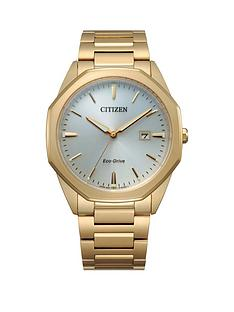 citizen-citizen-eco-drive-gold-stainless-steel-bracelet-mop-dial-mens-watch