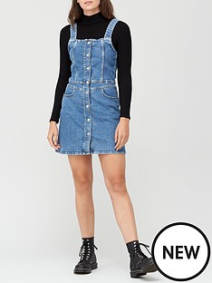 calvin-klein-jeans-button-down-tank-dress-blue