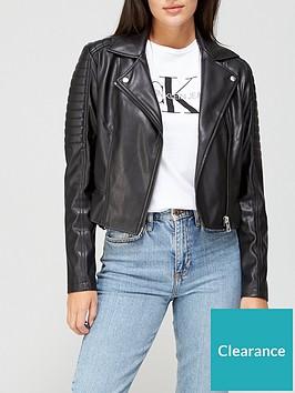 calvin-klein-jeans-faux-leather-biker-jacket-black