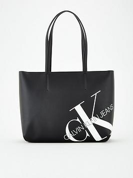 calvin-klein-jeans-brandednbspshopper-bag-black