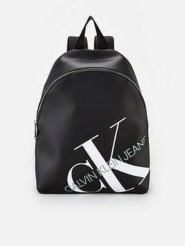 calvin-klein-jeans-round-backpack-black