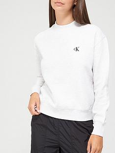 calvin-klein-jeans-ck-embroidery-regular-crew-neck-top-grey