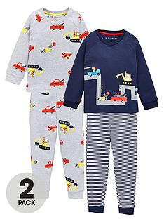 v-by-very-boys-2-pack-transport-snuggle-fit-pj-set-multi