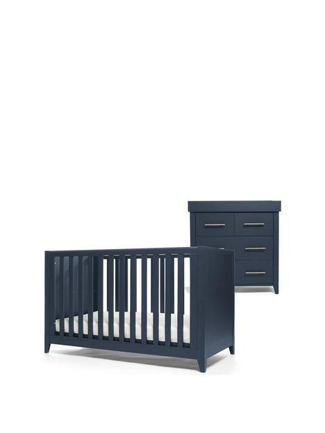 mamas-papas-melfi-cot-bed-and-dresser-changer-midnight-blue
