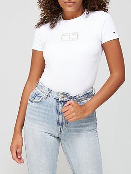 tommy-jeans-short-sleeve-logo-bodysuit-white