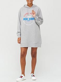 tommy-jeans-logo-hoodie-dress-grey-marl