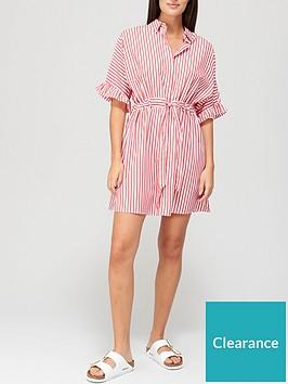 tommy-jeans-frill-sleeve-stripenbspshirt-dress-white
