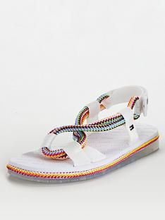 tommy-jeans-multicolour-rope-flat-sandals-white