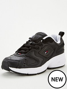 tommy-jeans-heritage-leather-mix-trainersnbsp--black