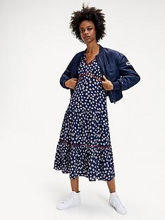 tommy-jeans-printed-lace-trim-dress