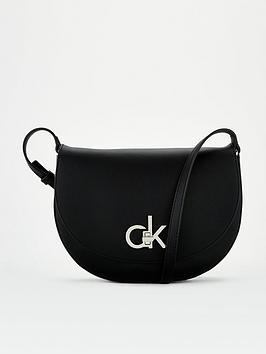 calvin-klein-re-lock-saddle-bag-black