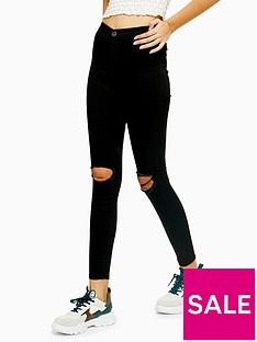 topshop-ripped-joni-jeans-black