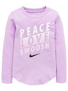 nike-younger-girls-peace-love-swoosh-long-sleevenbsptee-purple