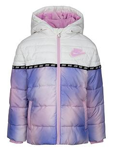 prod1090243923: Younger Girl Taping Color Block Padded Coat