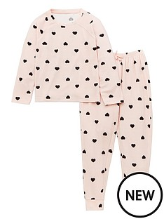 v-by-very-girls-heart-waffle-cosy-lounge-set-pink