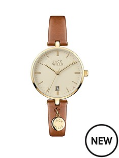 jack-wills-bennett-champagne-and-gold-detail-date-dial-tan-leather-strap-ladies-watch