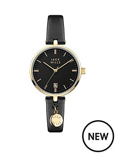 jack-wills-bennett-black-and-gold-detail-date-dial-black-leather-strap-ladies-watch