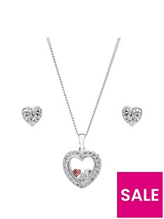 simply-silver-simply-silver-cubic-zirconia-heart-shaker-jewellery-set