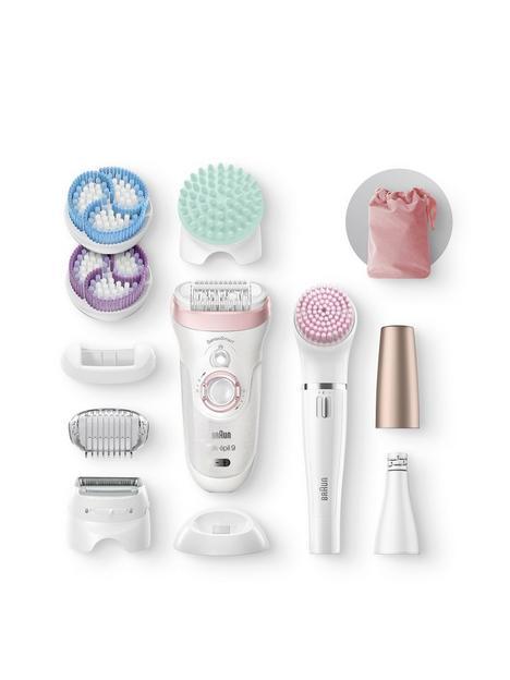 braun-silk-eacutepil-beauty-set-9-9-985-deluxe-7-in-1-hair-removal-epilator-shaver-exfoliator