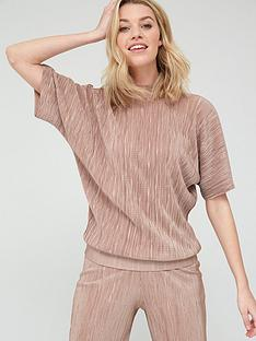 v-by-very-plisse-high-neck-top-camel