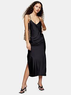 topshop-topshop-satin-cowl-midi-slip-dress-black