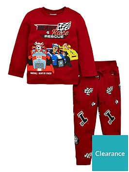paw-patrol-boysnbsprace-rescue-long-sleeve-tee-and-jogger-set-red