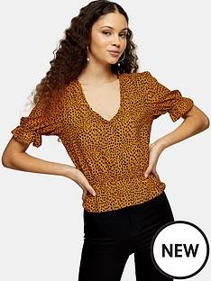 topshop-animal-printed-morgan-blouse
