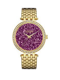 bulova-caravelle-purple-rocks-crystal-set-dial-gold-stainless-steel-bracelet-ladies-watch