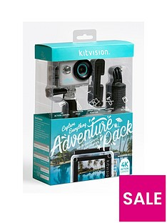 kitvision-kitvision-adventure-pack-with-4k-action-camera-and-accessories