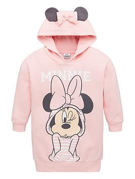 minnie-mouse-girls-minnie-mouse-bow-ears-longline-hoodie-dress-pink