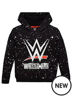 wwe-boys-wwe-splatter-hoodie-black