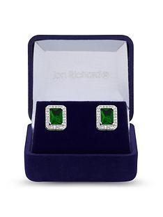 jon-richard-cubic-zirconia-emerald-stud-earrings