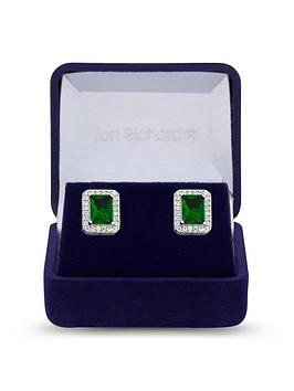 jon-richard-cubic-zirconia-emerald-stud-earrings