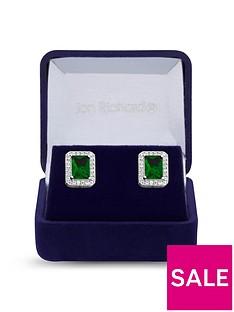 jon-richard-jon-richard-cubic-zirconia-emerald-stud-earrings