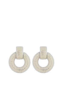 mood-mood-silver-plated-pearl-door-knocker-earrings