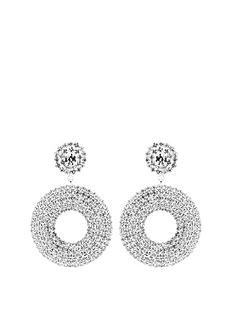 mood-mood-silver-plated-pave-double-circle-drop-earrings