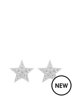 the-love-silver-collection-sterling-silver-pav-cubic-zirconia-star-stud-earrings