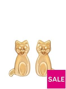 love-gold-9ct-gold-cat-stud-earrings
