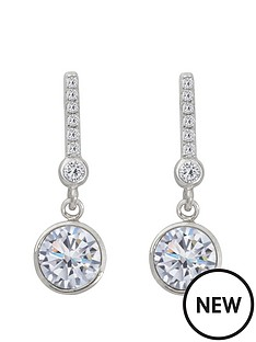 the-love-silver-collection-sterling-silver-swarovski-crystal-drop-earrings