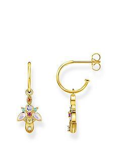 thomas-sabo-thomas-sabo-gold-plated-sterling-silver-bug-earrings