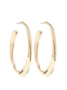 mood-gold-plated-polished-oval-hoop-earrings