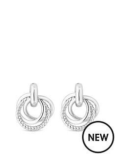 simply-silver-simply-silver-triple-knot-ring-stud-earrings
