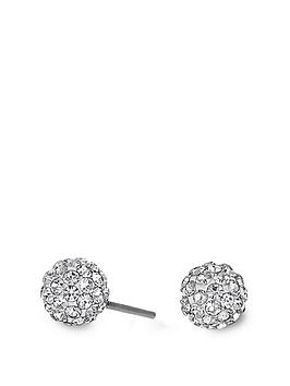 simply-silver-simply-silver-8mm-pave-ball-stud-earrings