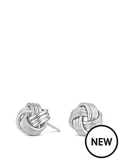 simply-silver-simply-silver-polished-rope-knot-stud-earring